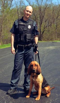 Officer Scioli and Droopy Photo graphic