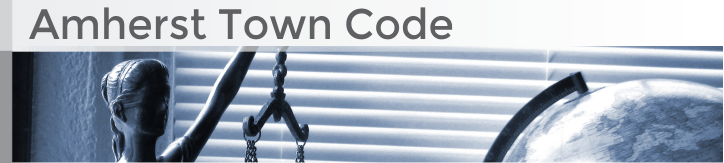 Amherst Town Code banner graphic
